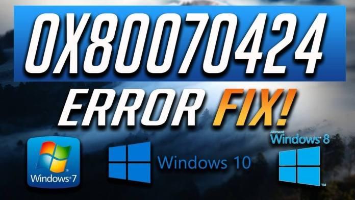 0x80070424 error proper fix
