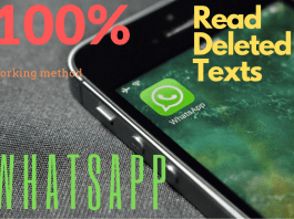 view deleted text on WhatsApp