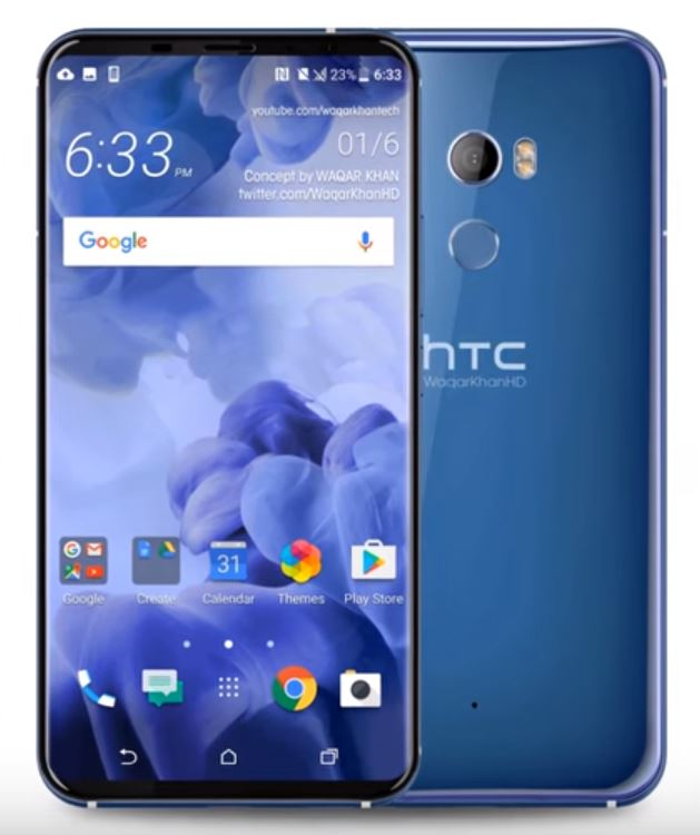 HTC U11 Plus Concept Renders Surface to Reveal Marvelous Full Screen Design
