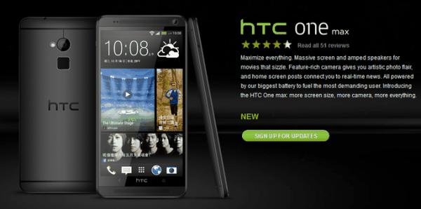 HTC One Max Black Zwart