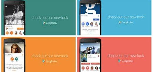 Google Play-Store nieuw design