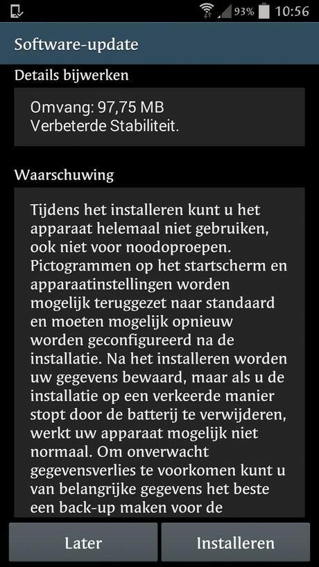Samsung Galaxy S4-I9505XXUGNG8 update