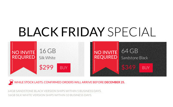 OnePlus One Black Friday no invite