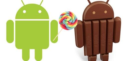 Android cijfers KitKat Lollipop