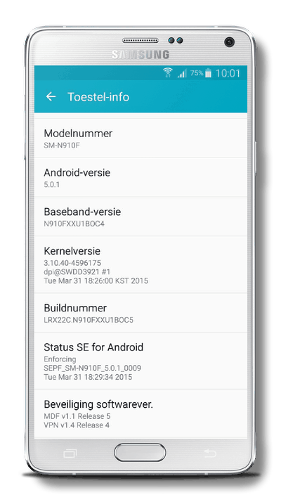 Samsung Galaxy Note 4 Android 5.0.1 (Lollipop)
