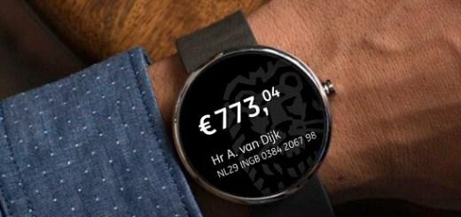 ING Mobiel Bankieren App smartwatch
