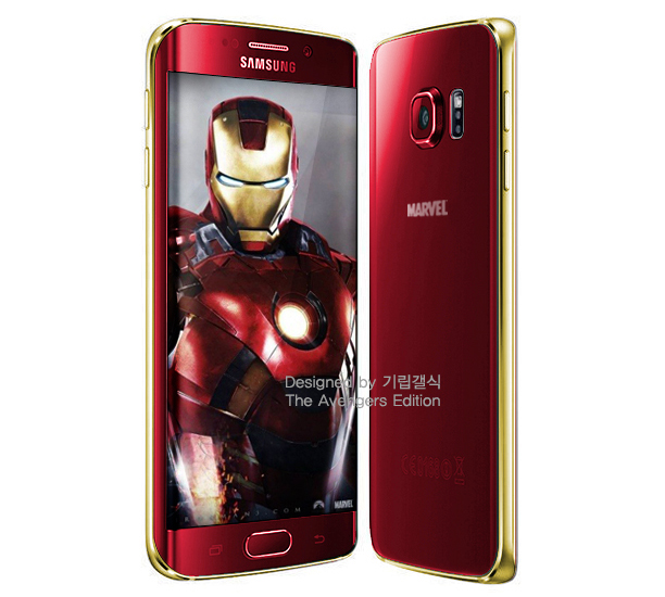 Iron Man Galaxy S6 Edge render