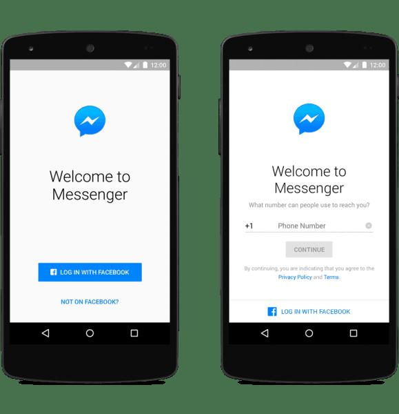 Facebook messenger-Not on Facebook