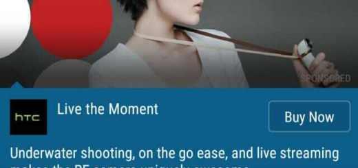HTC Blinkfeed advertenties reclame