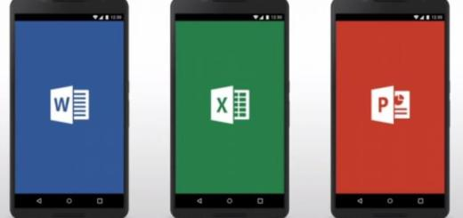 Microsoft Office Word Powerpoint Excel Android smartphone