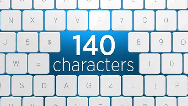 Twitter 140 karakters limiet