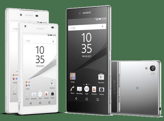 Sony Xperia Z5 smartphones