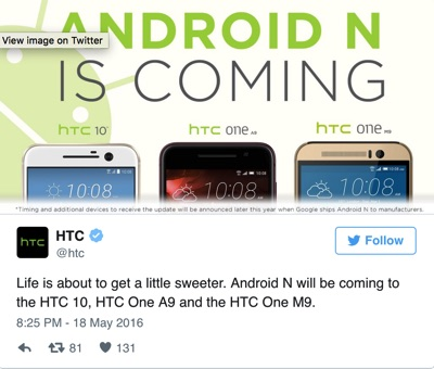 HTC Android N