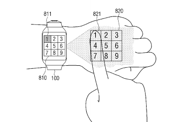 smartwatch patent projector
