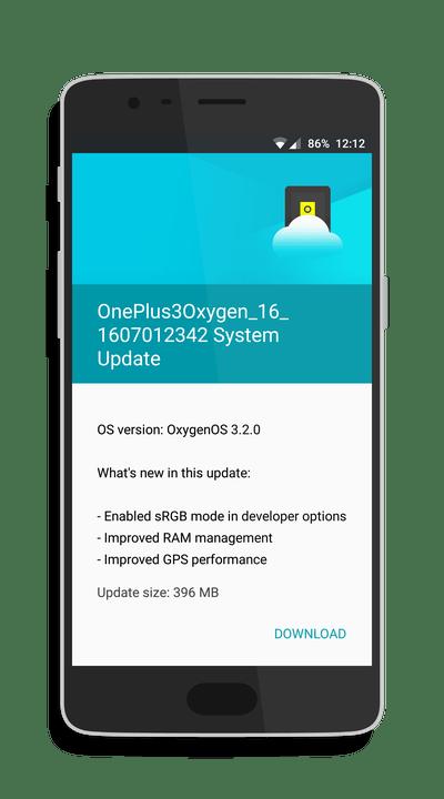 OnePlus 3 OxygenOS 3.2.0