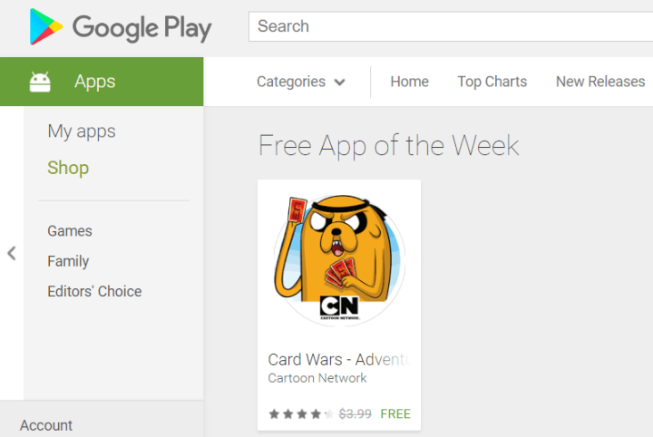 Free app of the week Play Store