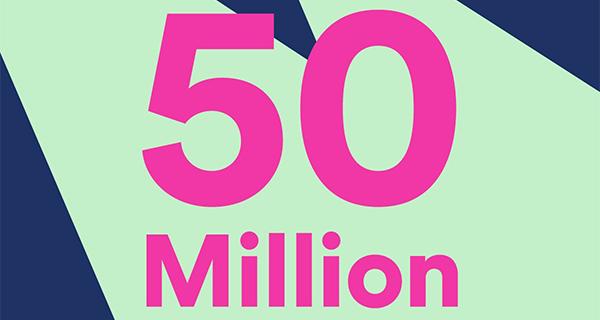 Spotify-50-miljoen