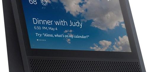 Amazon Echo-speaker met scherm zwart