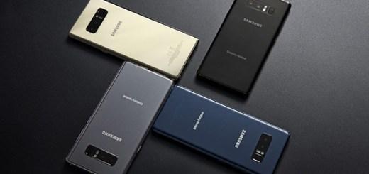 Samsung Galaxy Note 8 achterkant