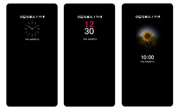 UX 6.0 LG V30 Always on