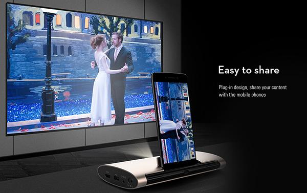 JMGO M6 Portable DLP Projector-smartphone