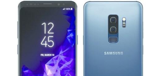 Samsung Galaxy S9+ Coral Blue render