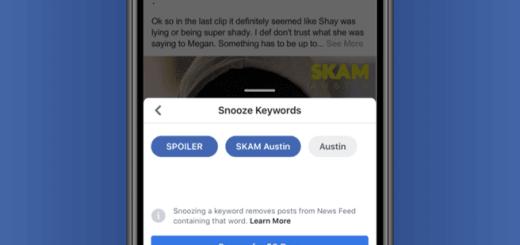 Facebook-snooze-keywords