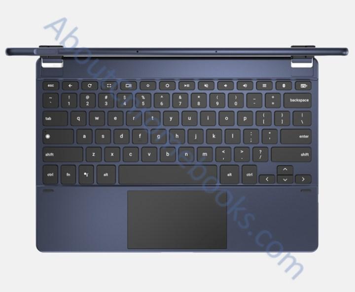 Chromebook-afneembaar-toetsenbord-vingerafdrukscanner