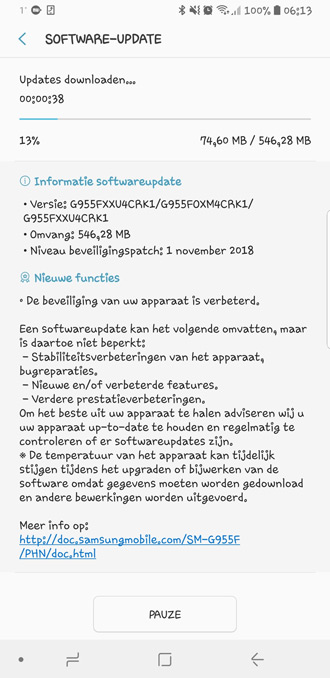 Samsung-Galaxy-S8-beveiligingsupdate-november-2018