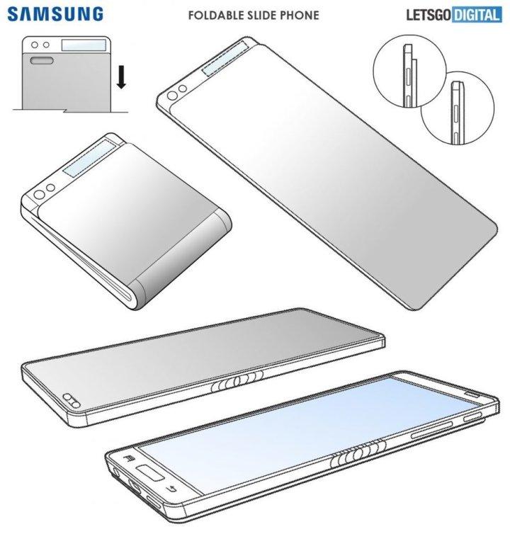 samsung-opvouwbare-slider-smartphone-patent