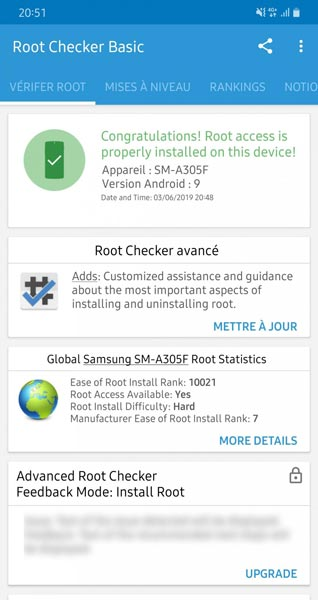 Screenshot root Samsung Galaxy A30 Pie