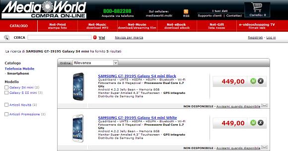 Samsung Galaxy S4 Mini Media World Online