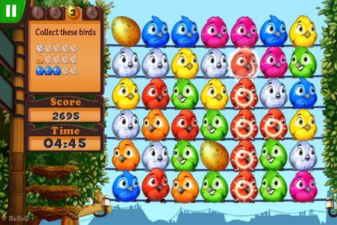 Für die roten Vögel gibt's zwar Punkte, fürs nächste Ei brauchen wir aber andere Farben (Bild links).