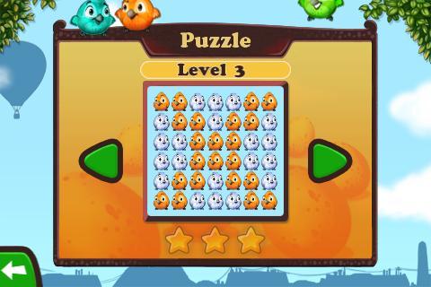 Der Puzzle-Modus hat zwar wenige Level ist aber dennoch eine schöne Abwechslung (Bild rechts).