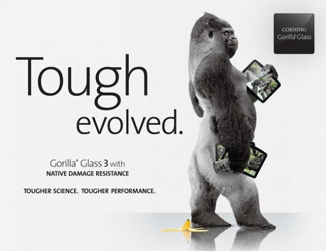 Die dritte Generation des Gorilla Glass soll noch bruchsicherer und kratzfester als die Vorgänger sein.