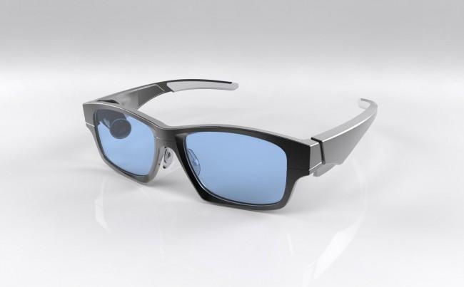 Anders als Google Glass setzt man bei dieser Brille auf einen Projektor. (Foto: GlassUp)
