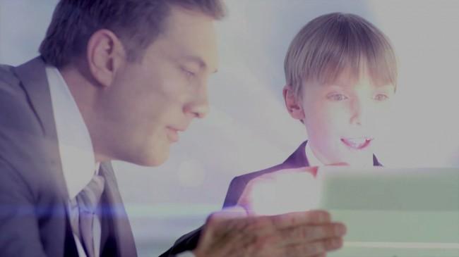 Der Lichteffekt lässt eine neue Display-Technologie vermuten.
