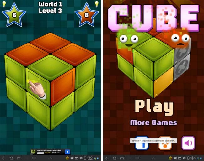Cube ist eine Art 3D-Zauberwürfel, wobei sich die einzige Gemeinsamkeit mit dem Magic Cube darauf beschränkt, dass auch Cube aus 3 x 3 x 3 einzelnen Würfel zusammengesetzt ist.