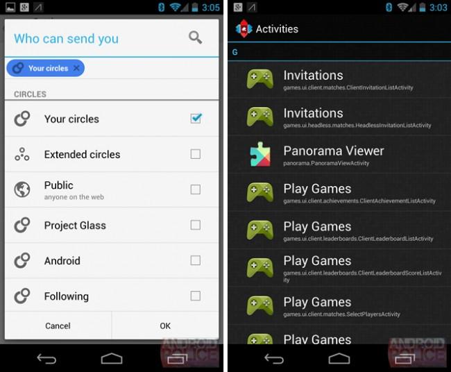 Google+-Verknüpfung des Games Center / Bildquelle. Android Police