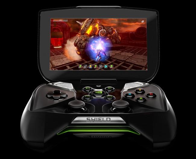 Die Spielkonsole von Nvidia, Project Shield wandert ab Juli für 350 Dollar über den Ladentisch. Foto: Nvidia.