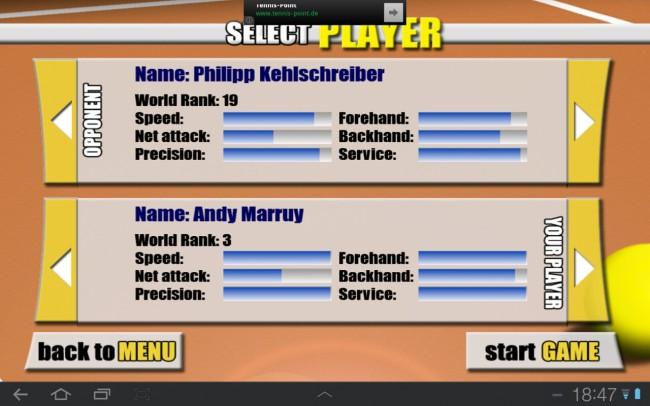 Die Spieler kannst du dir anhand verschiedener Kriterien aussuchen.