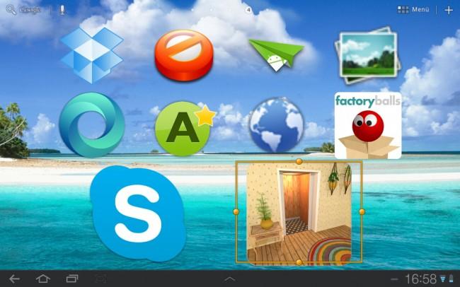 Vor allem für ältere Menschen oder Kinder wird die Bedienung des Smartphones bzw. Tablets durch größere Icons einfacher.