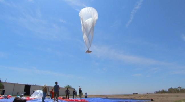 Ein Google-Ballon auf den Weg in die Stratosphäre. (Quelle: androidnext.de)