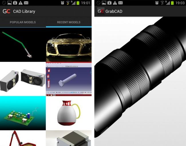 Die mobile Version beschränkt sich auf die Anzeig der CAD Modelle.