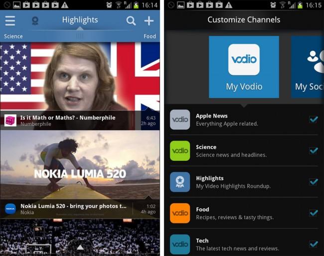 Vodio bietet in dieser Disziplin Außergewöhnliches: In jedem der vom Programm vorgegebenen Kanäle findet sich Videomaterial von in diesem Sektor führenden Anbietern.
