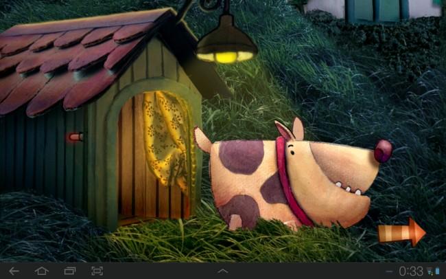 Der Lichtschalter löscht das Licht und schickt das jeweilige Tier ins Bett.