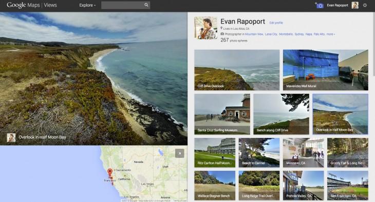 Evan Rapoport zeigt seine persönliche Views-Seite. (Screenshot: Google)