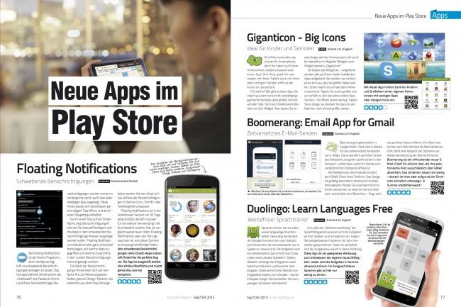Neue Apps (2 von 6 Seiten)