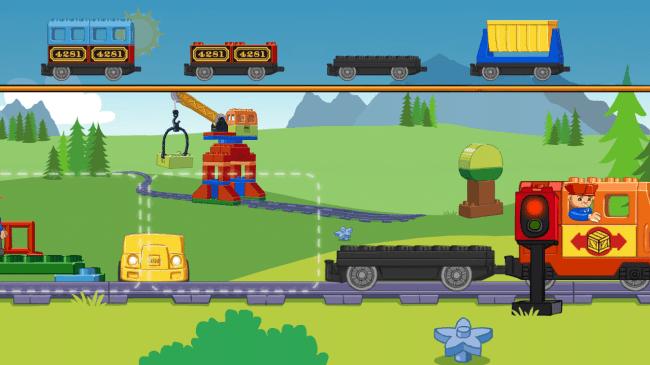 Im Zugkonfigurator kannst du dir deinen eigenen Legozug zusammenstellen.