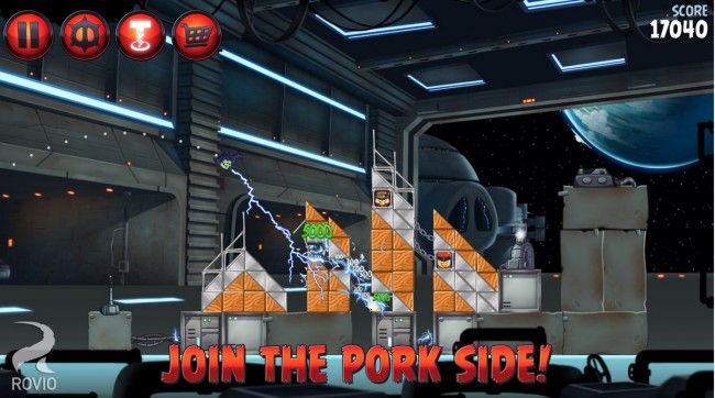 """In Angry Birds Star Wars 2 kannst du nun auch auf der Seite der """"Schweine"""" spielen."""